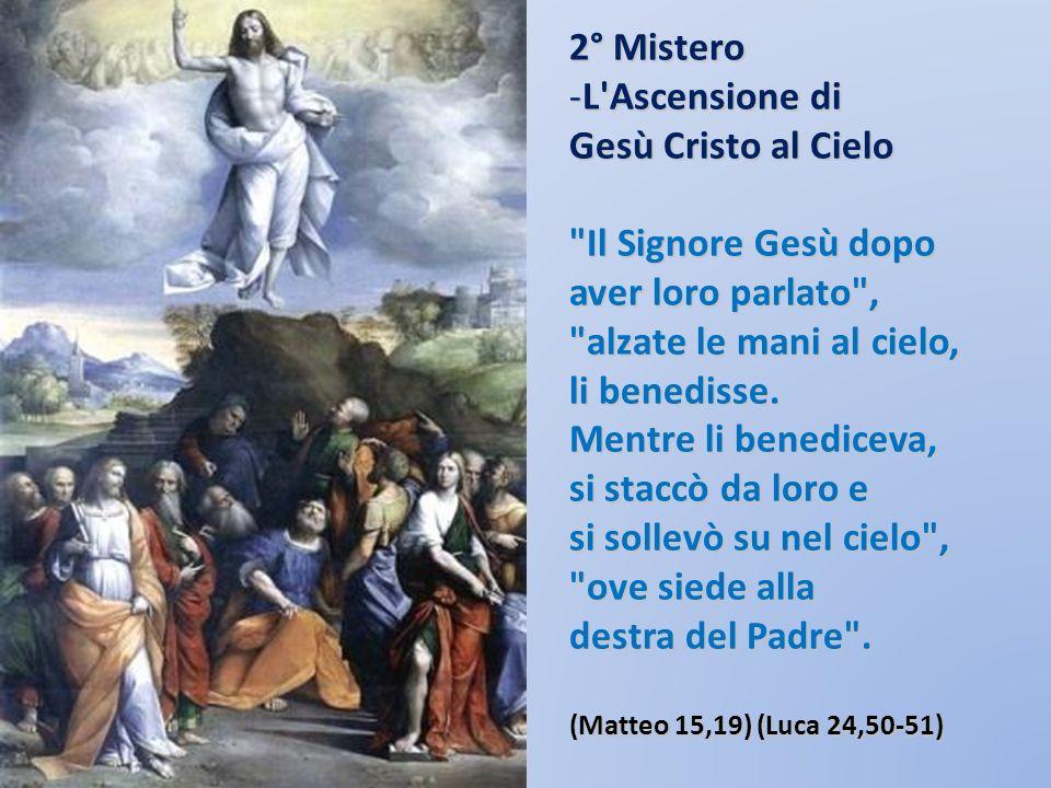 L Ascensione di Gesù Cristo al Cielo