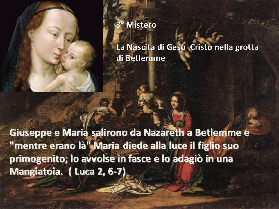 Giuseppe e Maria salirono da Nazareth a Betlemme e