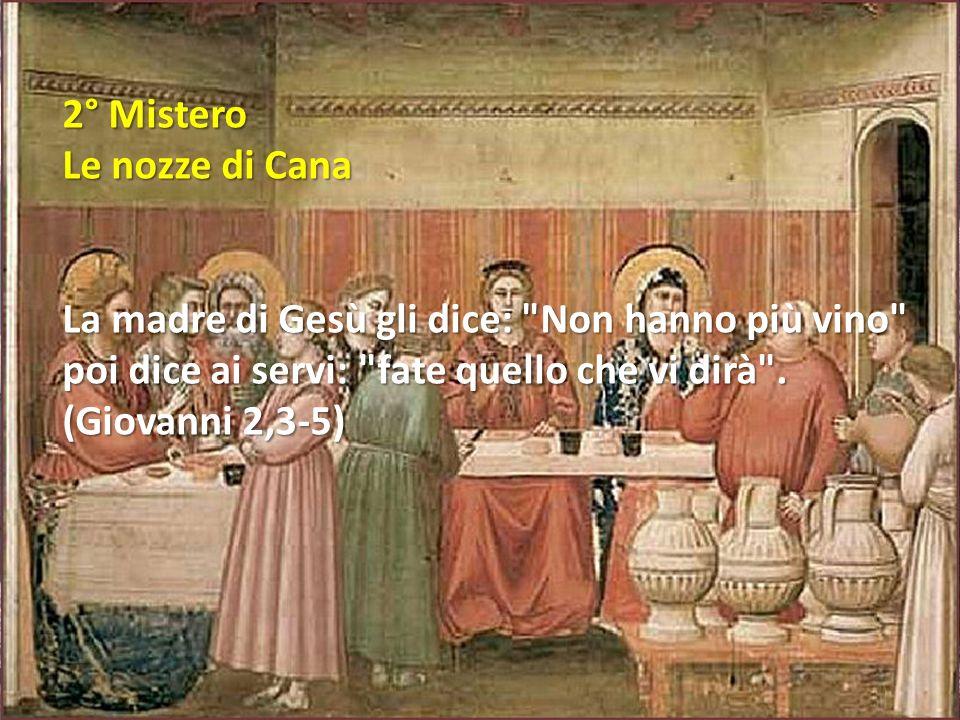2° Mistero Le nozze di Cana.