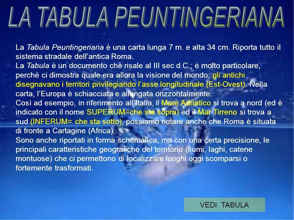LA TABULA PEUNTINGERIANA
