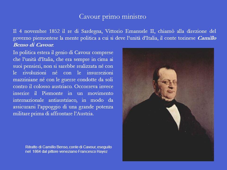 Cavour primo ministro