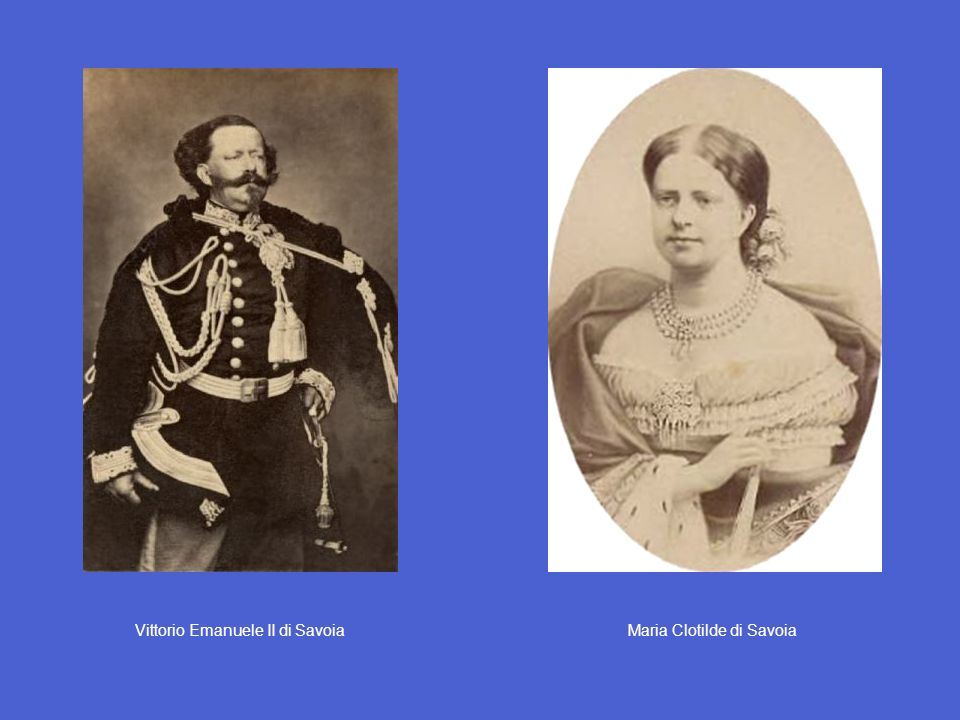 Vittorio Emanuele II di Savoia Maria Clotilde di Savoia