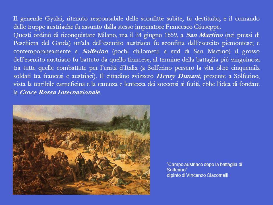Il generale Gyulai, ritenuto responsabile delle sconfitte subite, fu destituito, e il comando delle truppe austriache fu assunto dalla stesso imperatore Francesco Giuseppe.
