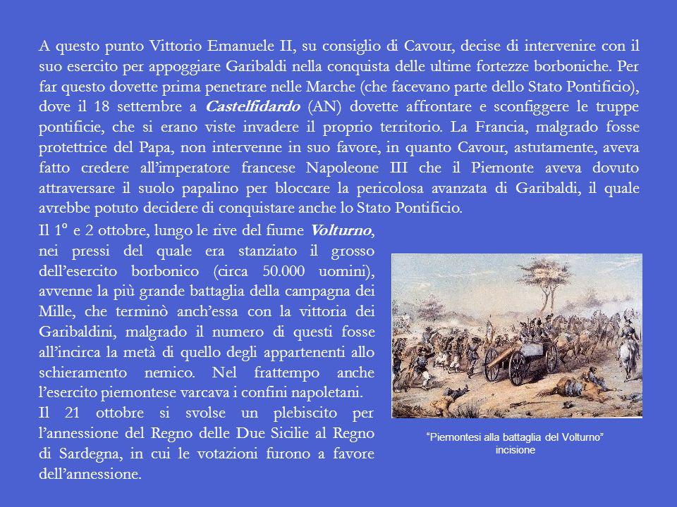 Piemontesi alla battaglia del Volturno