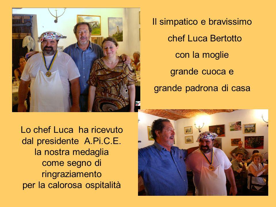 Il simpatico e bravissimo chef Luca Bertotto con la moglie