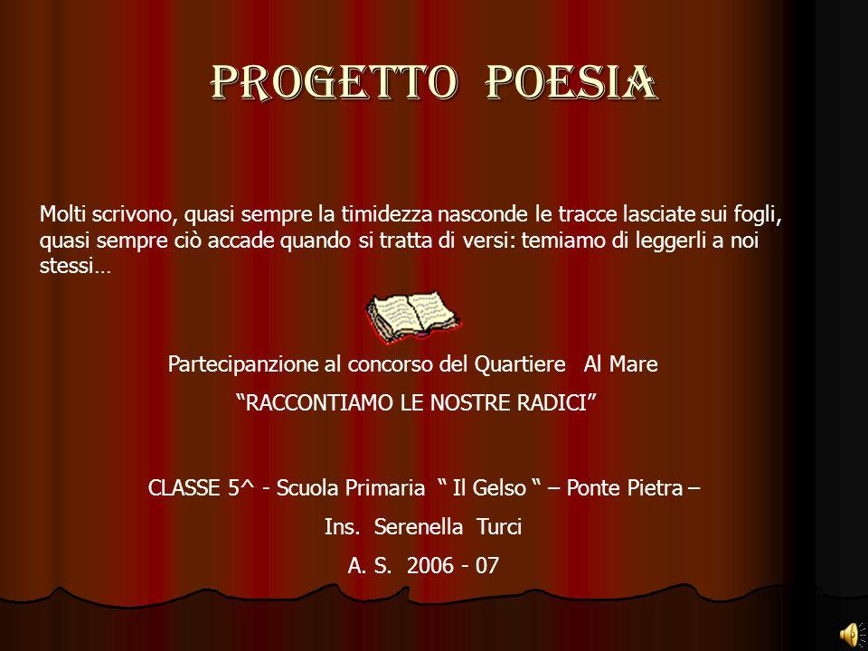 PROGETTO POESIA