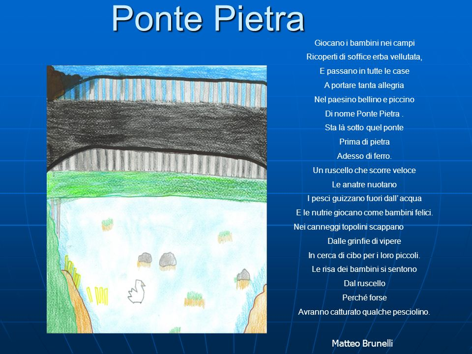 Ponte Pietra Matteo Brunelli Giocano i bambini nei campi