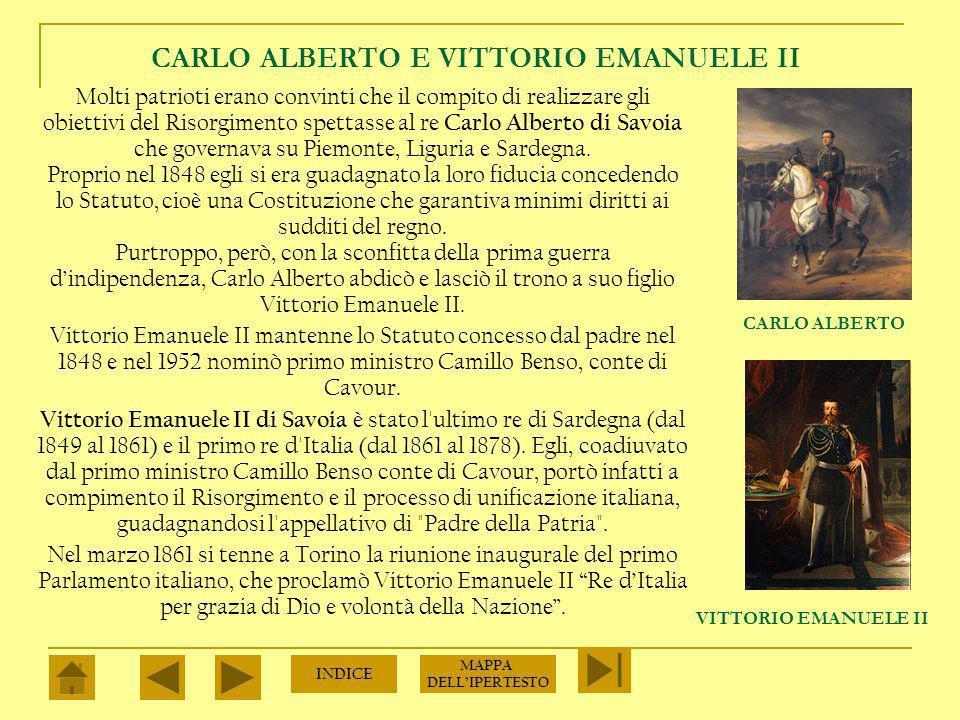 CARLO ALBERTO E VITTORIO EMANUELE II