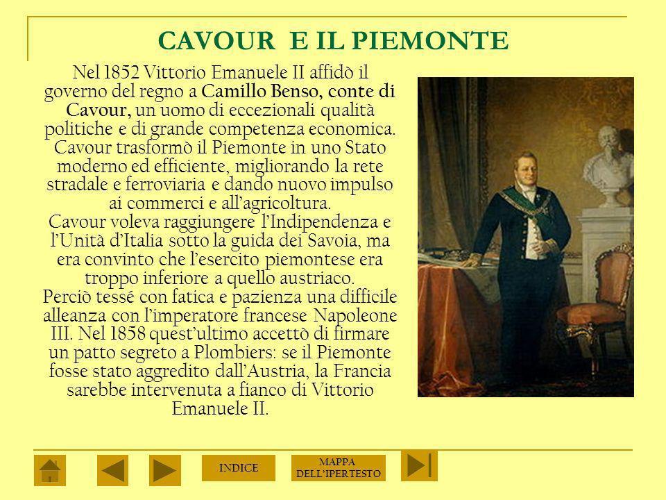 CAVOUR E IL PIEMONTE