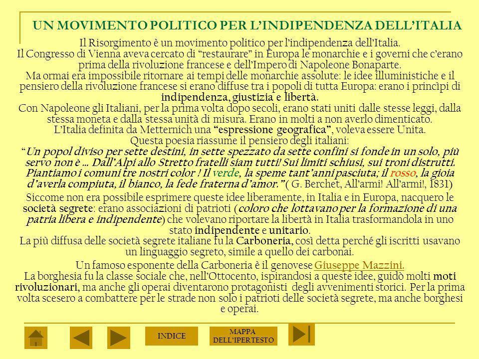 UN MOVIMENTO POLITICO PER L'INDIPENDENZA DELL'ITALIA