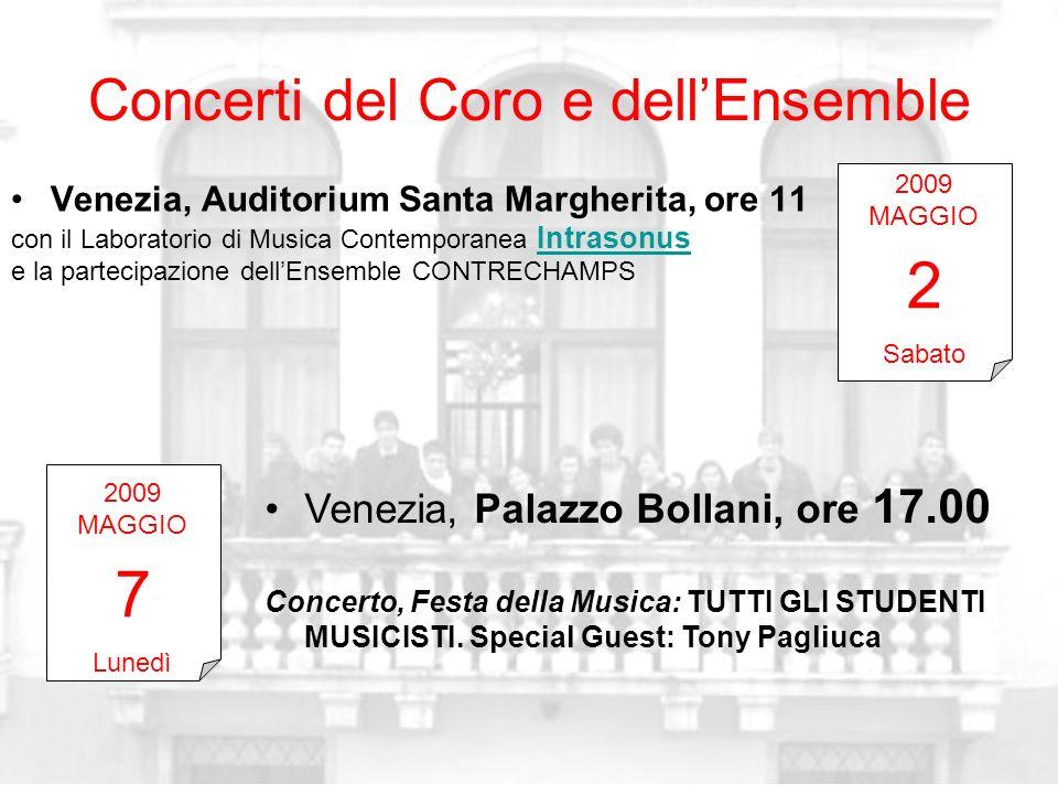 Concerti del Coro e dell'Ensemble
