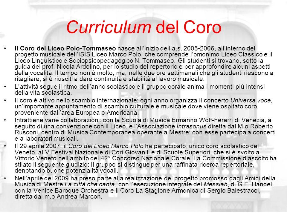 Curriculum del Coro