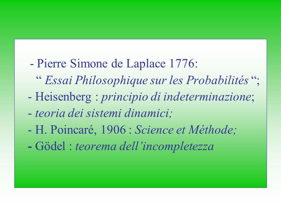 - Pierre Simone de Laplace 1776: