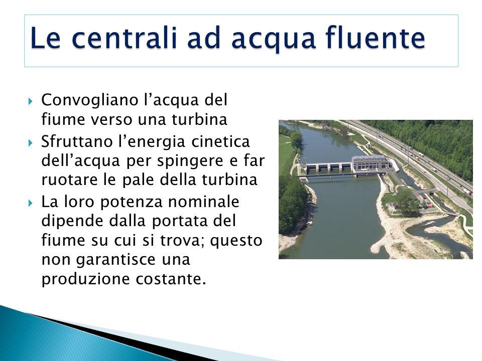 Le centrali ad acqua fluente