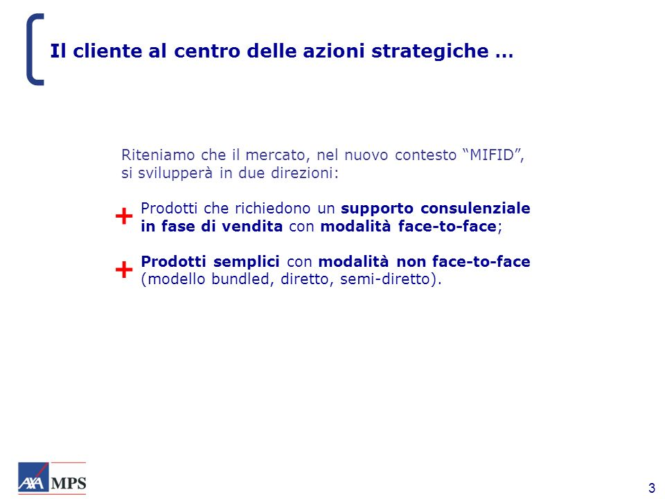 Il cliente al centro delle azioni strategiche …