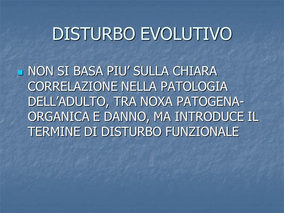 DISTURBO EVOLUTIVO