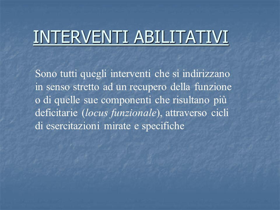INTERVENTI ABILITATIVI