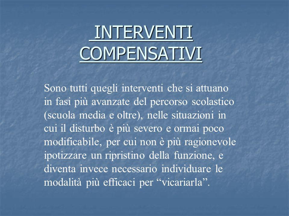 INTERVENTI COMPENSATIVI