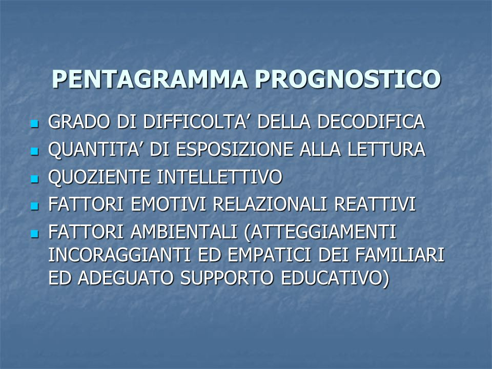PENTAGRAMMA PROGNOSTICO