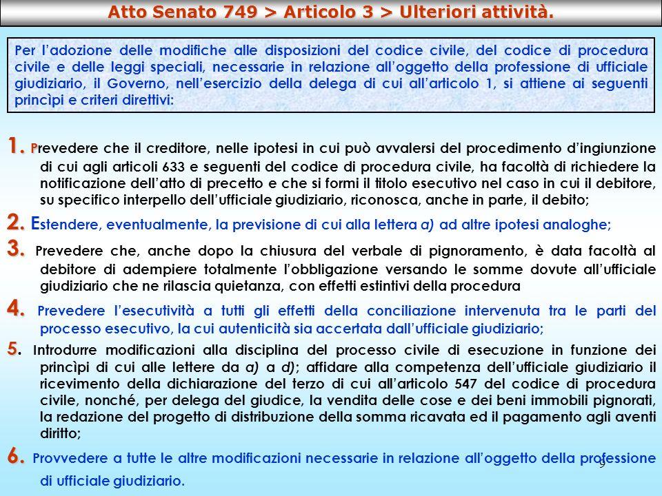 Atto Senato 749 > Articolo 3 > Ulteriori attività.