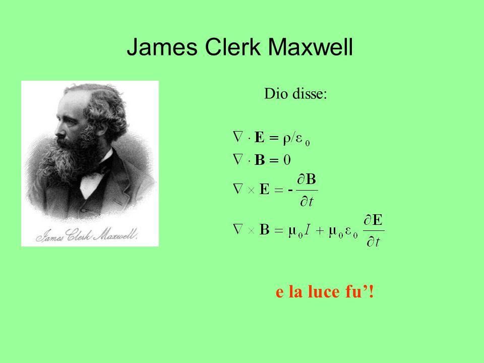 James Clerk Maxwell Dio disse: e la luce fu'!
