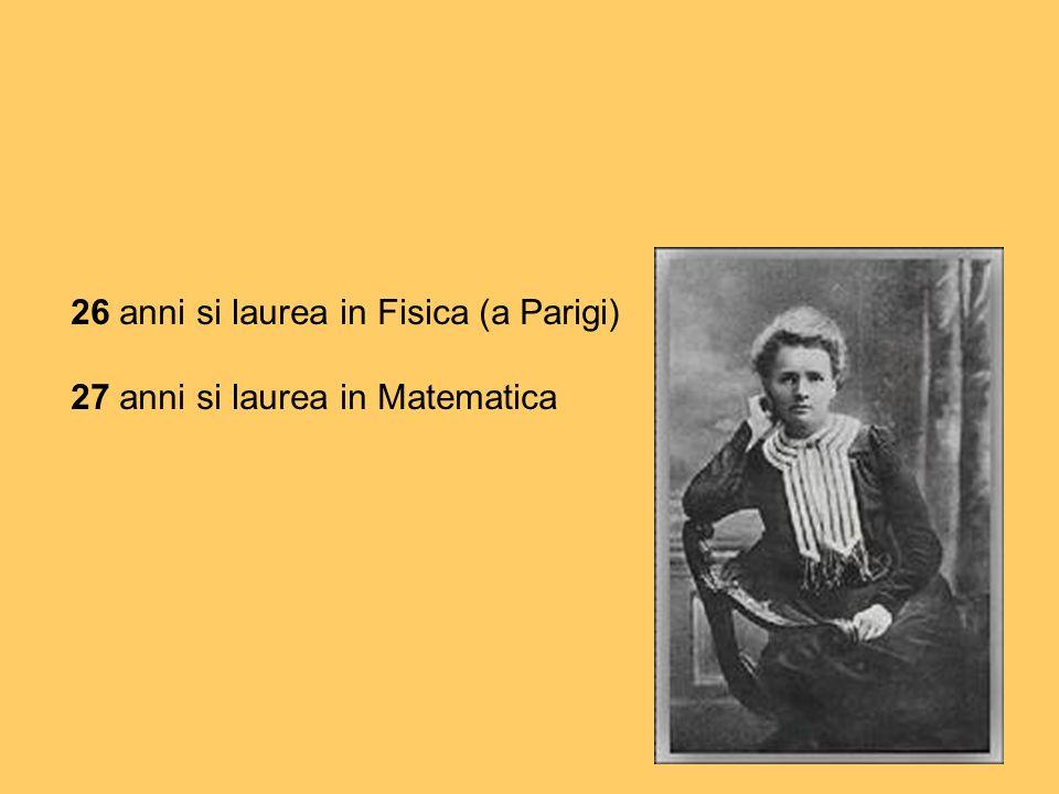 26 anni si laurea in Fisica (a Parigi)