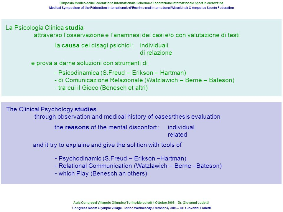 La Psicologia Clinica studia