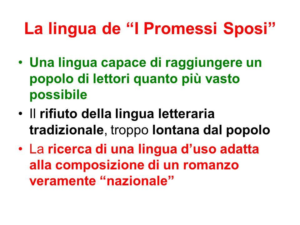 La lingua de I Promessi Sposi