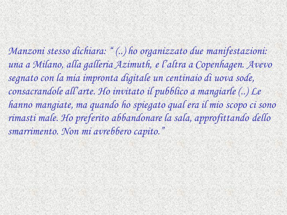 Manzoni stesso dichiara: (