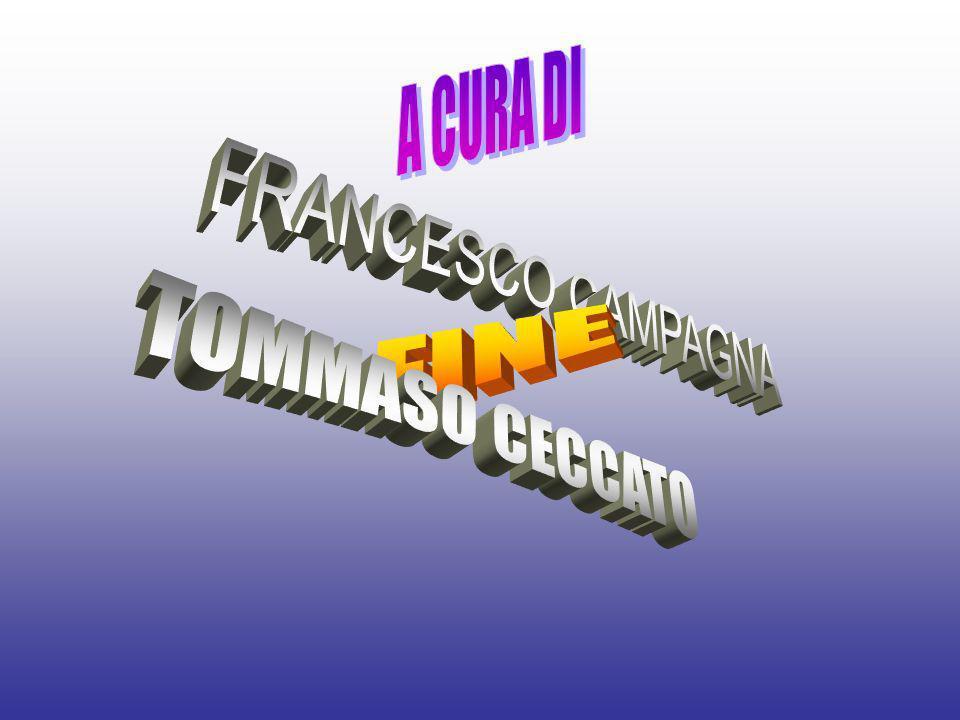 A CURA DI FRANCESCO CAMPAGNA FINE TOMMASO CECCATO
