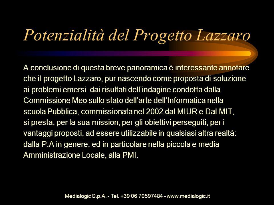 Potenzialità del Progetto Lazzaro