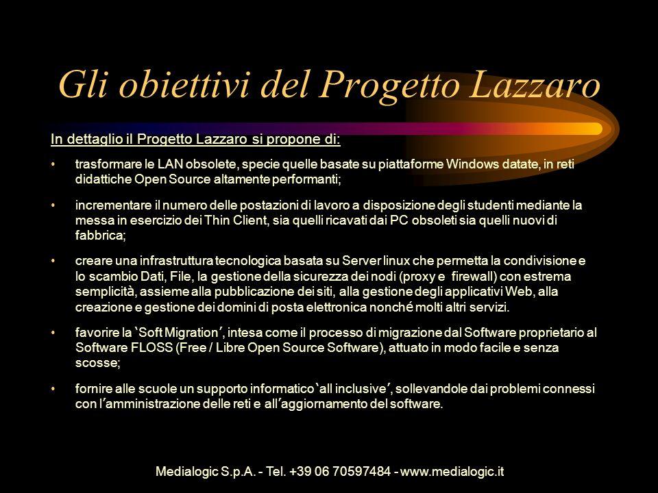 Gli obiettivi del Progetto Lazzaro