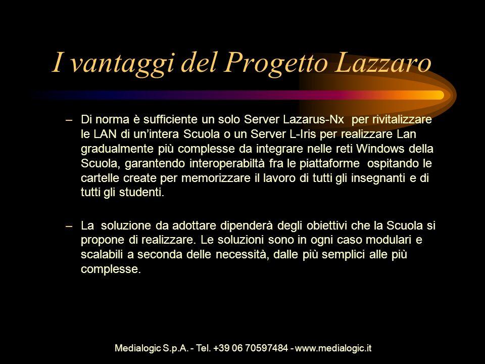 I vantaggi del Progetto Lazzaro