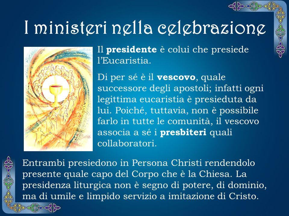 I ministeri nella celebrazione