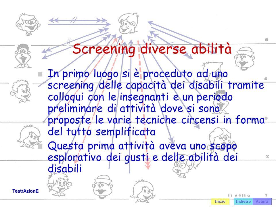 Screening diverse abilità