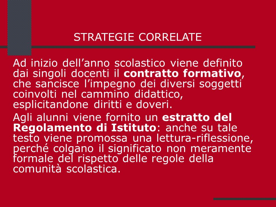 STRATEGIE CORRELATE