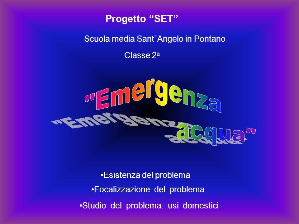 Emergenza acqua Progetto SET Scuola media Sant' Angelo in Pontano