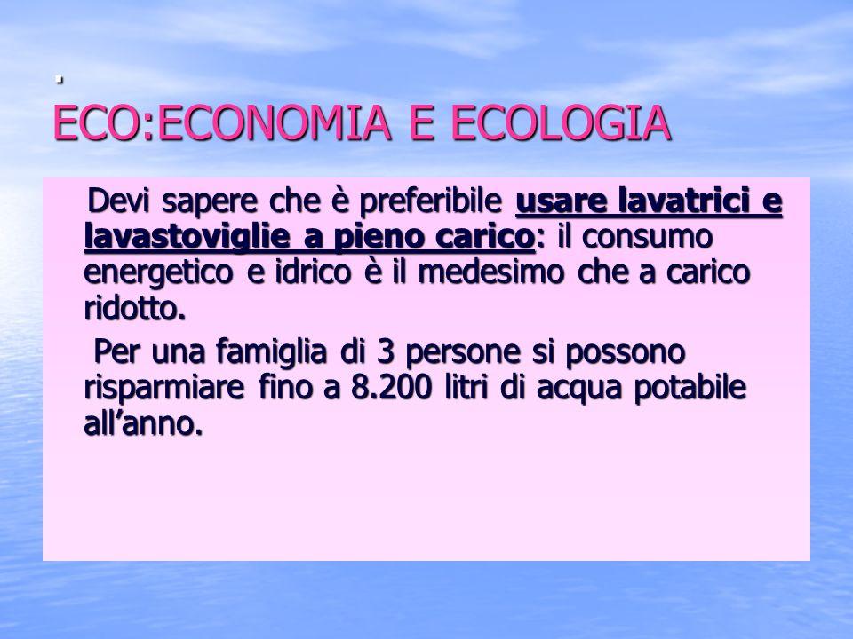 . ECO:ECONOMIA E ECOLOGIA