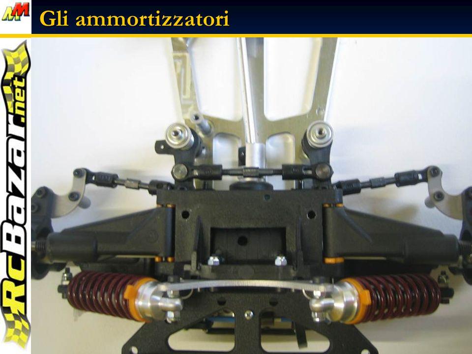 Alcune immagini degli ammortizzatori montati sul modello ….