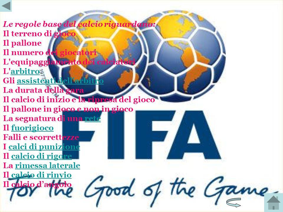Le regole base del calcio riguardano: