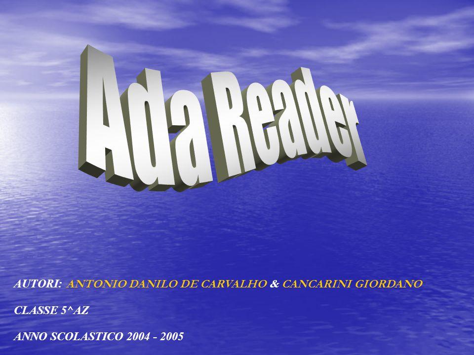 Ada Reader AUTORI: ANTONIO DANILO DE CARVALHO & CANCARINI GIORDANO