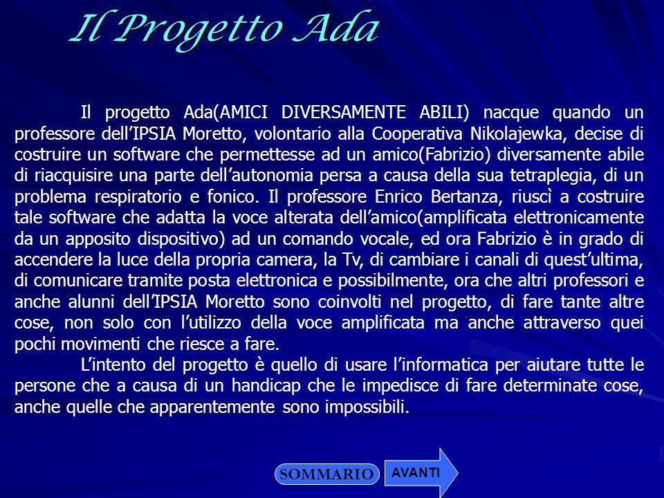Il Progetto Ada