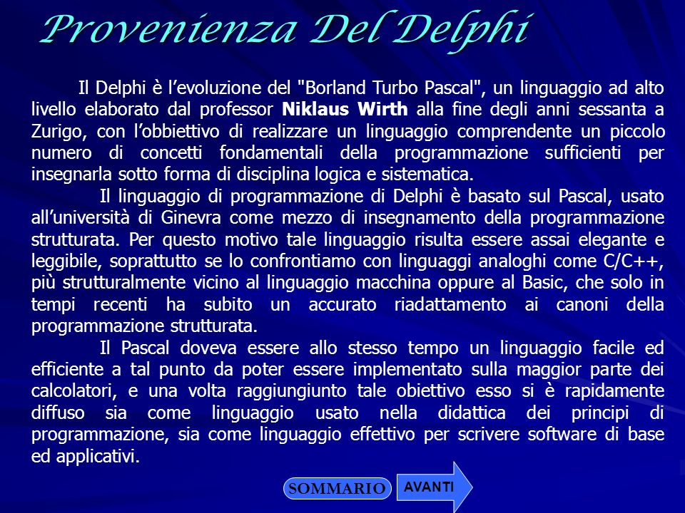 Provenienza Del Delphi