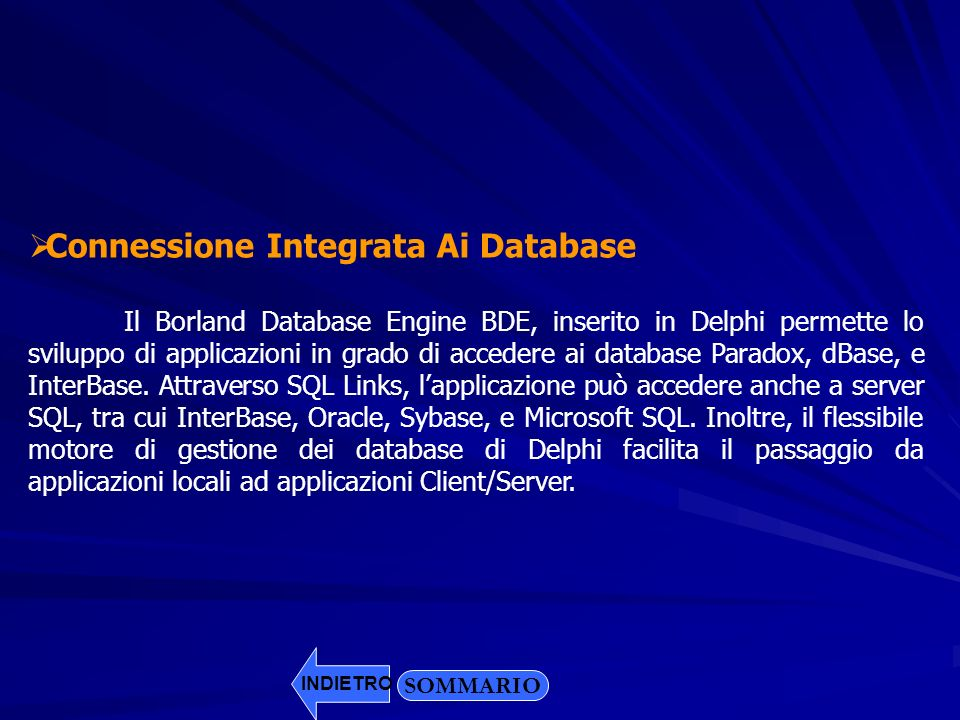 Connessione Integrata Ai Database