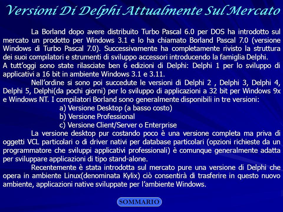 Versioni Di Delphi Attualmente Sul Mercato
