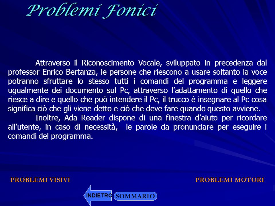 Problemi Fonici