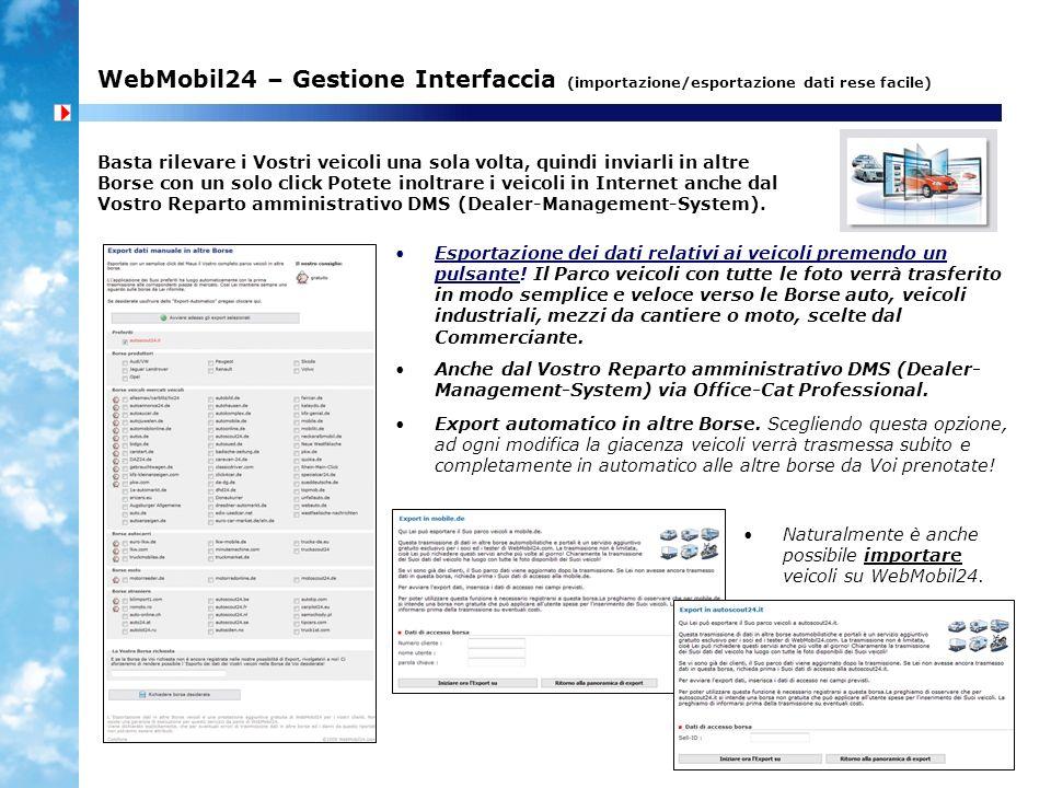 WebMobil24 – Gestione Interfaccia (importazione/esportazione dati rese facile)