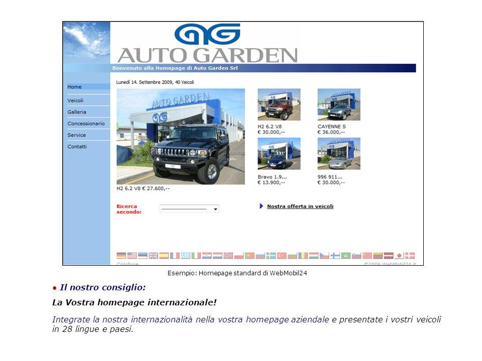 Esempio: Homepage standard di WebMobil24