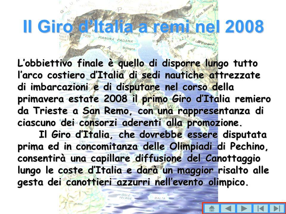 Il Giro d'Italia a remi nel 2008