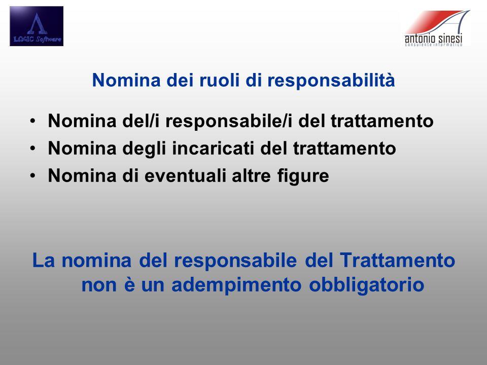 Nomina dei ruoli di responsabilità